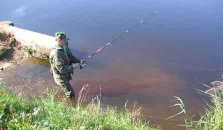 Рыбалка удочкой на реке 7 класс